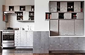 Modern Kitchen Design with Alternative Modernize Kitchen Cabinet, Gray  Stained Wood Surface Finish, Gray