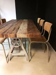 Image Urban Industrial Vintage Industrial Dining Table Pamono Vintage Industrial Dining Table For Sale At Pamono