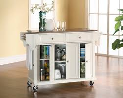 Movable Kitchen Island Ikea Charming White Portable Kitchen Island Painted With Glass Door