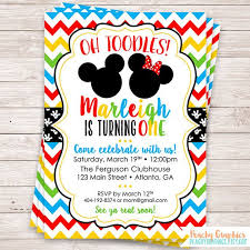 Mickey Mouse Clubhouse 2nd Birthday Invitations Mickey Mouse Clubhouse Birthday Party Invitation By