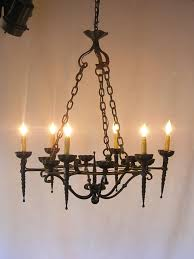 antique iron chandelier from france fob1