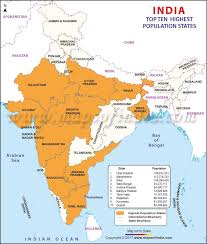 Population Chart Of Indian States Top 10 Indian States With Highest Population Highest