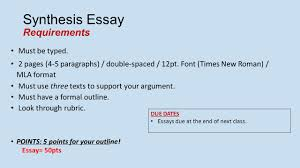 embedded assessment synthesis essay ppt video online synthesis essay requirements