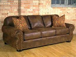 leather studded couch sectional sofa vintage with accent black so
