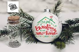 Browse our christmas ornament svg collection for the very best in custom shoes, sneakers, apparel, and accessories by independent artists. First Christmas In Our New Home Ornament Svg Digital Files First Hou Illustrator Guru