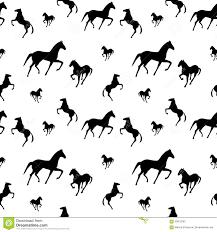 Het Naadloze Patroon Van Paarden Vector Illustratie Illustratie