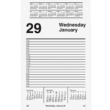 at a glance daily pad style desk calendar refill aage45850