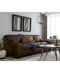 Kassidy Leather Sofa Furniture Macy s