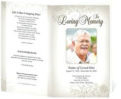 Cream Floral Funeral Program Free Template For Mac Ustam Co
