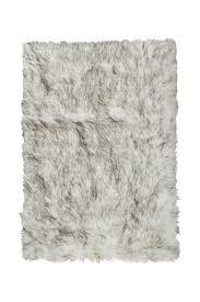 image of kinetic hudson faux sheepskin rug throw grant gray