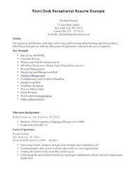 Resume Draft Interesting Receptionist Sample Resume Front Office Resume Examples Splendid