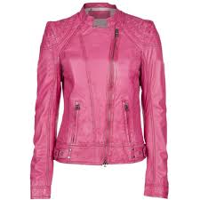 women barbie pink leather leather jacket