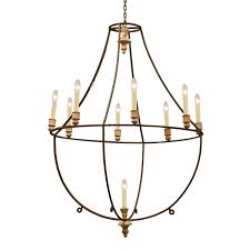 forged large iron chandelier metal interior home design 29