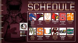 Alabama Florida State Seating Chart Fsus 2019 Schedule Set