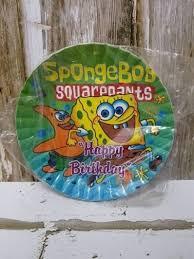 Jual Piring Spongebob Piring Kue Spongebob Piring Cake Isi 10 Pcs