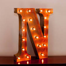 24 marquee letter lights 24 letter n lighted vintage marquee letters with screw on sockets 1 v=
