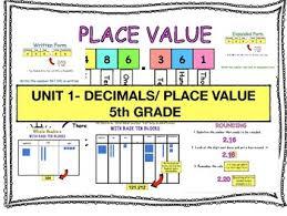5th Grade Place Value Decimals