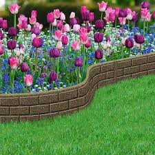 1 2m recycled rubber lawn edging border bricks h15cm