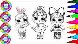 Drawing And Coloring 3 Little Babies With Big Eyes Coloring Pages L