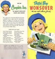dutch boy wonsover one coat inerior finish paint 1951 brochure color chart
