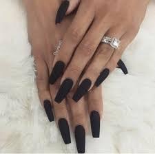 black matte coffin nails more