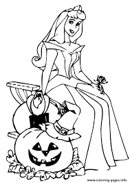 Small Picture The Sleeping Beauty Halloween Disney Halloween Coloring Pages