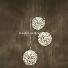 luxury round crystal ball hanging pendant chandelier