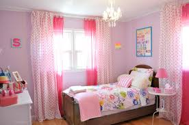 Decorations:Cute Small Girls Bedroom With Cool Stuff Decor And Curtains  Also Pink Wall Paint