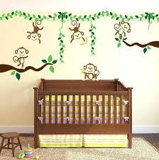 jungle wall decals monkey decal for baby room safari nursery sweet land zoo animals safari wall decals