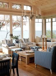 Photos Hgtv Coastal Living Room With Beadboard Ceiling And Large Windows.  Yard Design Ideas.