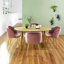 4er Silky Samt Akzent Sessel Für Kleine Küche Esszimmer Büro