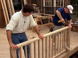 planning deck railing sections wood ideas wooden diy