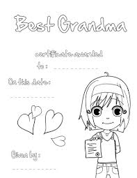 best grandmother certificate coloring pages com best grandma certificate
