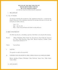 Non Profit Board Meeting Agenda Template Stingerworld Co