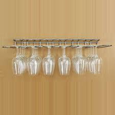 chrome plated steel wine glass hanging rack dual fix wall and shelf