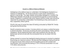 gould s a nation of morons gcse psychology marked by teachers com document image preview
