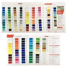 Oracal 651 And 631 Color Charts Guide Matte Indoor Vinyl