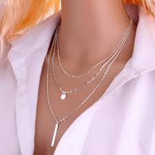 <b>2019</b> New Women Fashion <b>Gold Color</b> 3 Layers Chain Necklace ...