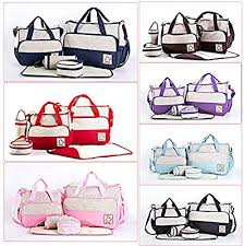COSANSYS 5pcs <b>Nappy</b> Changing <b>Diaper Messenger Mummy Bag</b> ...