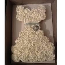 Wonderful Cupcake Wedding Dress Bridal Shower Pull Apart Cupcake