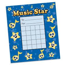 Music Star Individual Incentive Charts Pack