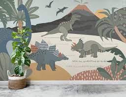 dinosaur wall mural wallpaper