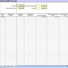 Best Photos Of Excel Bill Tracker Template Medical Bill Tracker