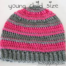 Free Crochet Hat Patterns For Toddlers Enchanting Free Pattern Sweet Striped Crochet Hat For Babies And Kids
