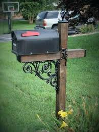 Double Mailbox Wooden Double Mailbox Post Plans tiidalco