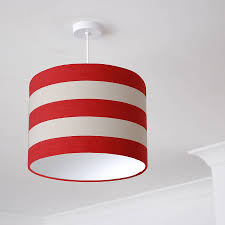 red and white deckchair stripe lampshade
