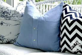Button Up Shirt Pillow Covers