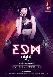 free flayers edm night party free flyer template flyer template vestor