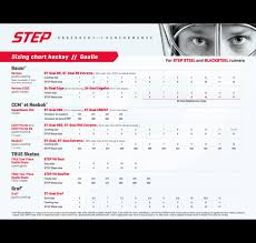 Bauer Runner Size Chart Step Steel Goalie Runners For Bauer Vertexx Edge Holder