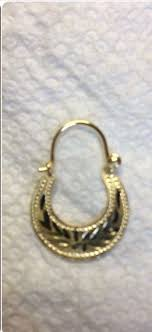 my daughters cuban hoops ordered from key west jewelry 14k solid gold s
